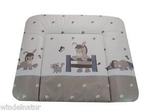 Baby-Wickelauflage-Esel-grau-Mulde-Supersoft-72x85-cm-OkoTex-Wickeltisch-Donkey