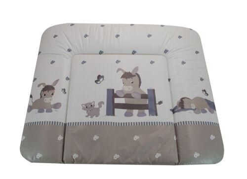 Baby Wickelauflage Esel grau Mulde Supersoft 72x85 cm ÖkoTex Wickeltisch Donkey