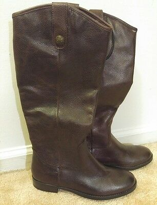 Womens Merona Kasia Tall Brown Leather Boots NWT Size 5 1/2