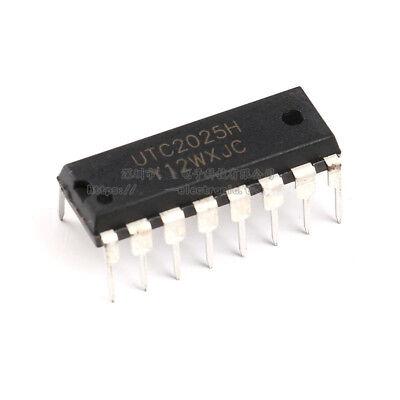 10pcs Original UTC2025H Chip Audio Amplifier Class AB 2.3W DIP-16