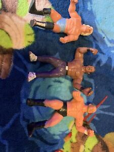 WCW-GALOOB-RIC-FLAIR-BUTCH-REED-BARRY-WINDHAM-FIGURE-LOT-USED-WWE-WWF
