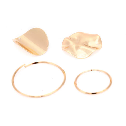 10Pcs//Set Alloy Gold Geometry Charms Pendant DIY Making Earrings Jewelry Cr D RC