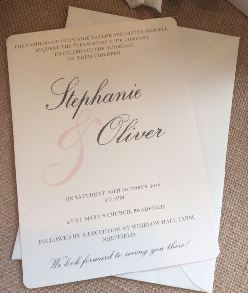 """1 Rustic / Vintage / Shabby Chic """"stephanie"""" Wedding Invitation + Rsvp Campione-/shabby Chic 'stephanie' Wedding Invitation + Rsvp Sample Può Essere Ripetutamente Ripetuto."""