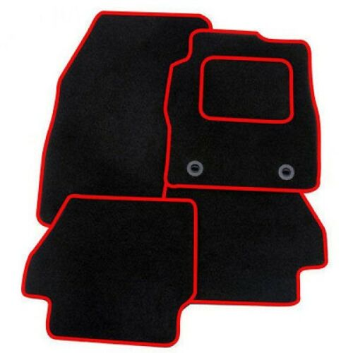 Tailored Car Mats 2 x clips TOYOTA AYGO 14 on RED TRIM