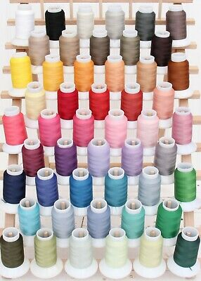 THREADART WOOLY NYLON THREAD SERGER STRETCHY 1000M #200 WOOLLY 50 COLORS