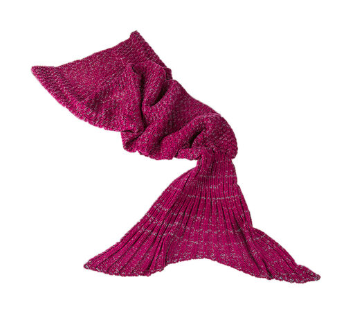 Childs or Adults Mermaid Knitted Comfort Blanket
