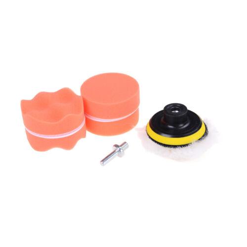 "NEW 7 Pcs 3/"" Buffing Pad Auto Car Polishing Wheel Kit Buffer Drill AdapteRDUK"