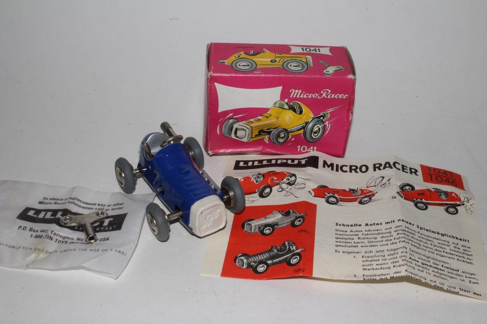 Schuco Replicas Micro Grand Prix Racer with Box bluee