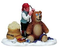 Lemax Christmas Village Elf Tending To Teddy Bear 72382