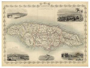 Jamaica-Greater-Antilles-The-Caribbean-illustrated-map-John-Tallis-ca-1851