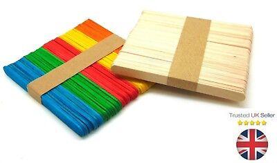 UK Seller Natural or Colour Wooden Lollipop stick  Lollipop Stick Craft Stick