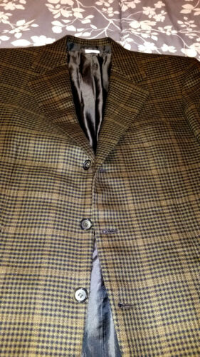 Brioni 3-Button DOGTOOTH Blazer 100% Cashmere W/TI