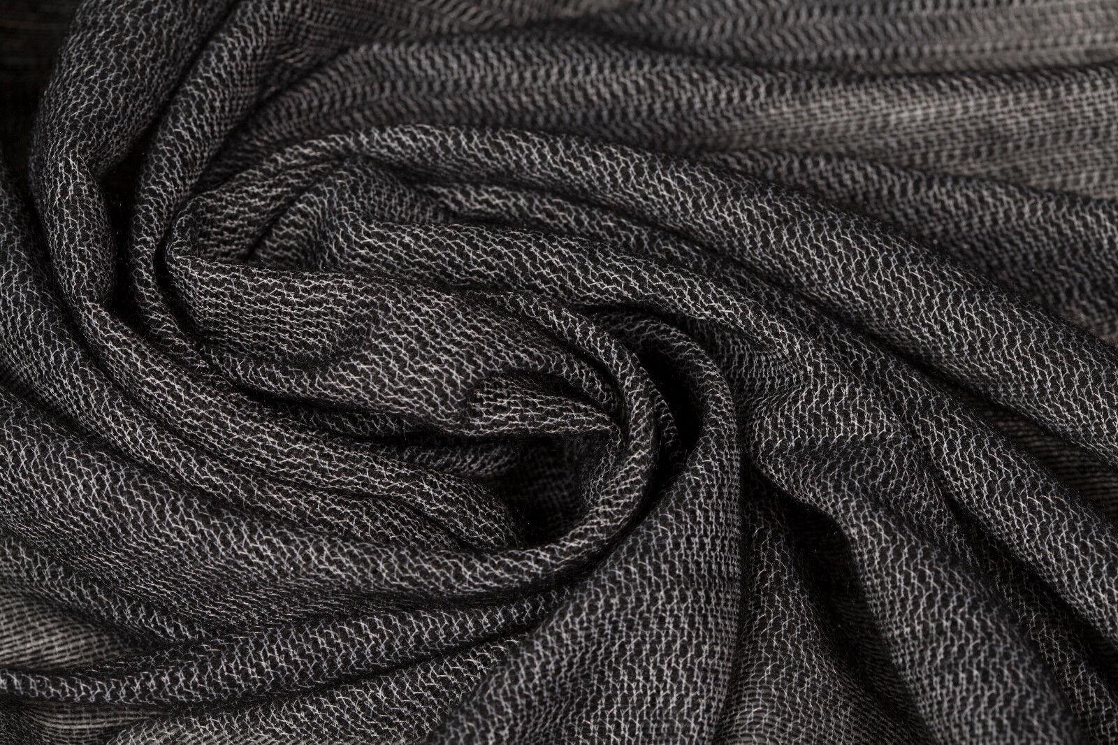 """*NEW*Black//White//Grey Floral//HerringBone Tweed Wool Suiting Fabric 60/""""-150cm"""