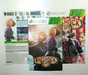 MANUAL-AND-ARTWORK-ONLY-NO-GAME-XBOX-360-Bioshock-Infinite
