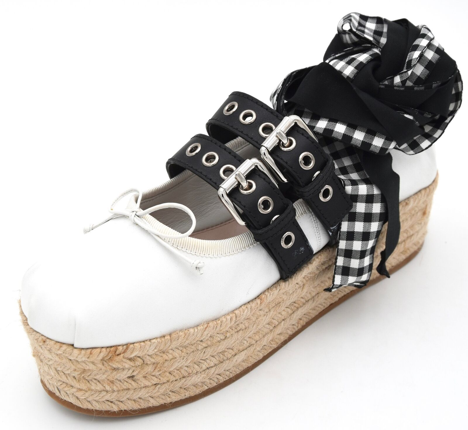 Miu Miu Mujer Zapatillas Zapatos Alpargatas informales de código de tiempo libre 5F767A