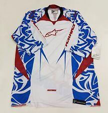 AlpineStars Gravity 3/ 4Sleeve Men's Jersey White Blue Red Size XL
