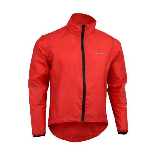 Mens Cycling Waterproof Jacket High Visibility Running Top Rain Coat S to 2XL