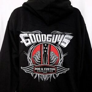 Goodguys Rod Custom Mens Hoodie Sweatshirt Full Zip Car Mechanic - Good guys sweatshirt