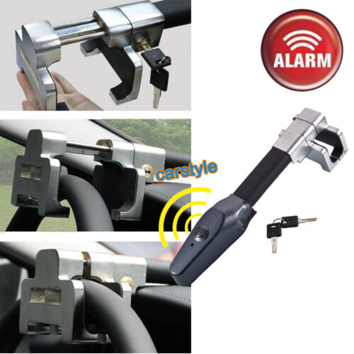 Touch Alarm Anti-Theft Car Van Steering Wheel Lock Heavy Duty Security Clamp