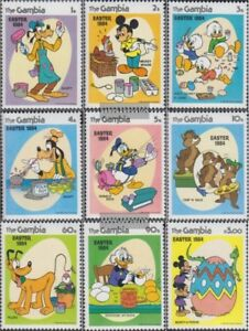 Unmounted Mint Never Hinged 1984 Walt-disney-f To Enjoy High Reputation At Home And Abroad complete Issue Gambia 507-515
