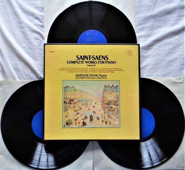 "RARE Saint-Saëns–Complete Works For Piano, Volume II 3x12"" Vinyl LP Box Set 1975"