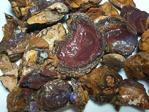 Australian-Boulder-opal-rough-Yowah-Parcel-4700-cts-lapidary-BRFEB15