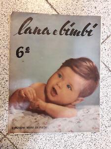 Rivista Lana E Bimbi 6 Edizioni Mani Di Fata 1959 Ebay