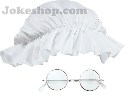 Mop Hat /& Glasses Old Lady Granny Victorian Fancy Dress Book Week