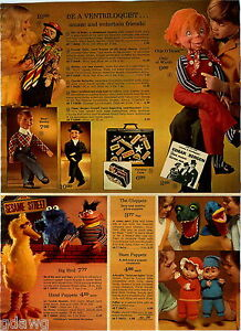 1973-PAPER-AD-Puppet-Gloppets-Big-Bird-Watch-Cat-Hat-Buffy-Jody-Ventriloquist