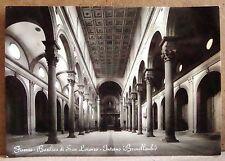 Firenze - Basilica S. Lorenzo - interno (Brunelleschi) [grande, b/n, non viagg.]
