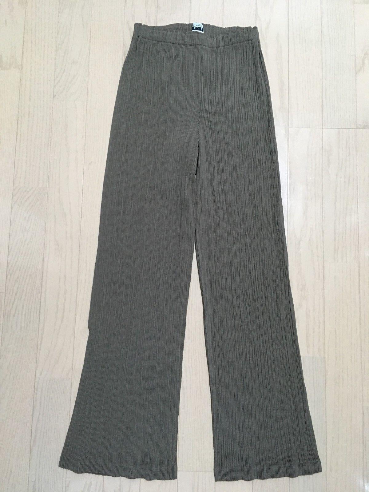ISSEY MIYAKE FETE Long pants Khaki Brown Beige Size 1 NM