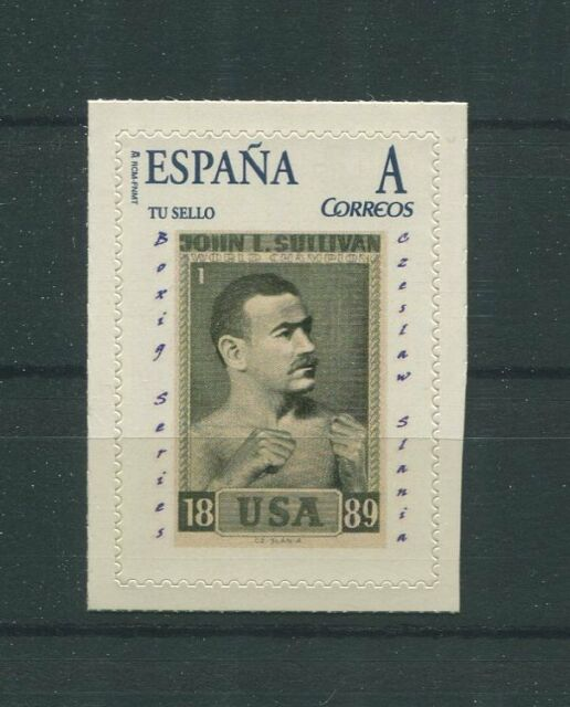 SPAIN CUSTOM STAMP CZESLAW SLANIA ENGRAVER BOXING SERIES 1962 ONLY 10 MNH! h1717