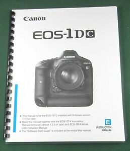 Canon EOS-1DC Instruction Manual: Comb Bound & Plastic Covers! | eBay