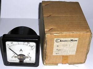 Amperemetre-AC-DC-thermocouple-0-5A-ou-0-50A-NOS-Cie-de-Construction-Electrique