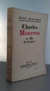 Rene-Benjamin-Charles-Maurras-Este-Hilo-de-La-Mar-Pin-Plon-1932-Buen-Estado
