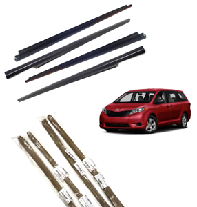 2011-2019 Sienna Door Belt Molding Weatherstrip 4 PC SET Genuine Toyota OEM