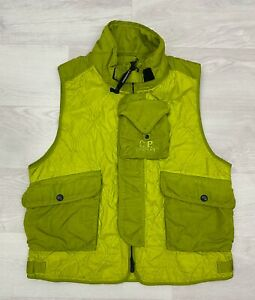 CP-COMPANY-430-Men-039-s-Quilted-Special-Dyed-Vest-Gilet-Col-Sulphur-Spring-220