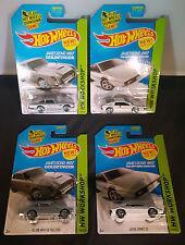 Hot Wheels - (2x) Aston Martin 1963 DB5 and (2x) Lotus Esprit S1 from James Bond