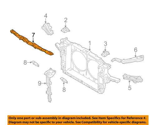 Infiniti NISSAN OEM 14-16 Q70 Radiator Core Support-Upper 622901MA0A