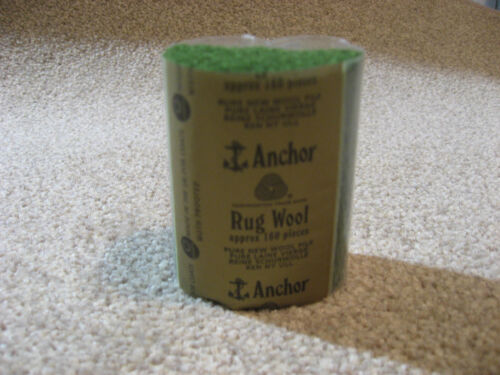 10 packs Anchor med green #39 6-ply rug wool,formerly Readicut//Homemakers.