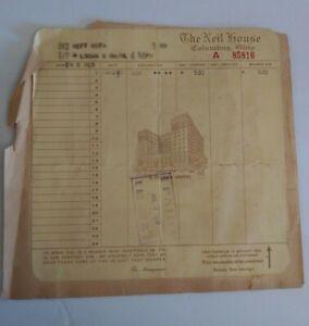 Antique-Hotel-Receipt-1948-The-Neil-House-Columbus-Ohio-Collectible-Hilton-Hotel