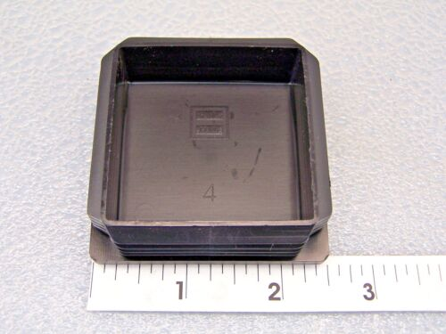 """Plastic Insert Caps the open end of 2-1//2/"""" Square Tube 11-19 gage wall// 8 PAK"""