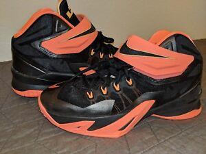 Image is loading Nike-LeBron-James-Zoom-Soldier-VIII-Basketball-PEACH- 602de060a5f0