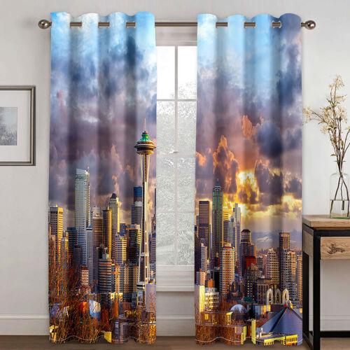 Trippy Starry sky Window Curtains 3D Window Drapes Home Livingroom Bedroom Decor