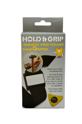 Neat Ideas Hold /& Grip Magnetic Wrist Holder /& Nail Gripper
