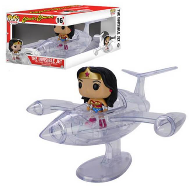 DC Funko Pop CORSE Wonder Woman's invisibile JET Figura in vinile  16 presente nel Vault