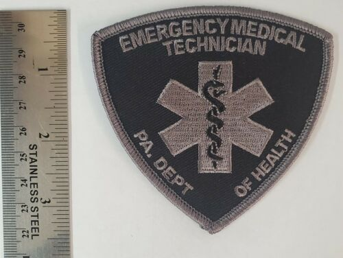PA Emergency Medical Technician SUBDUED Patch Pennsylvania DOH EMT Patch VEL-CRO