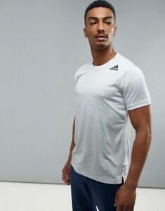 Details about Adidas Men Tshirts FreeLift Climacool Running Half sleeve Training Top Gym Black