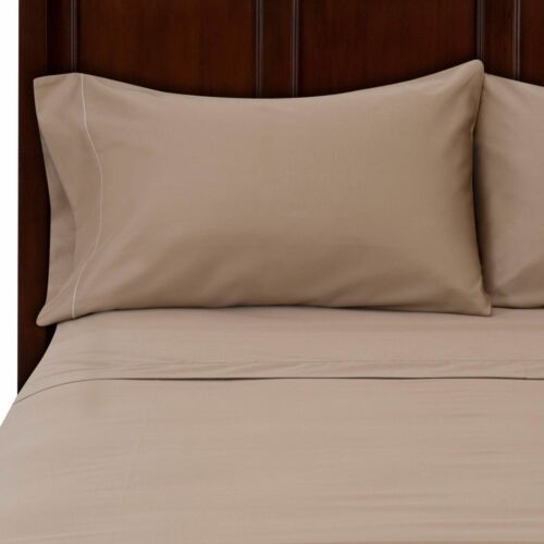 PILLOW SHEET SET 1000TC Egyptian Cotton Queen,King,CAl Solid Color FITTED SHEET