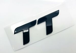 Audi TT Badge Black Logo Car Emblem Decal Self Adhesive Boot Door S - Audi car emblem